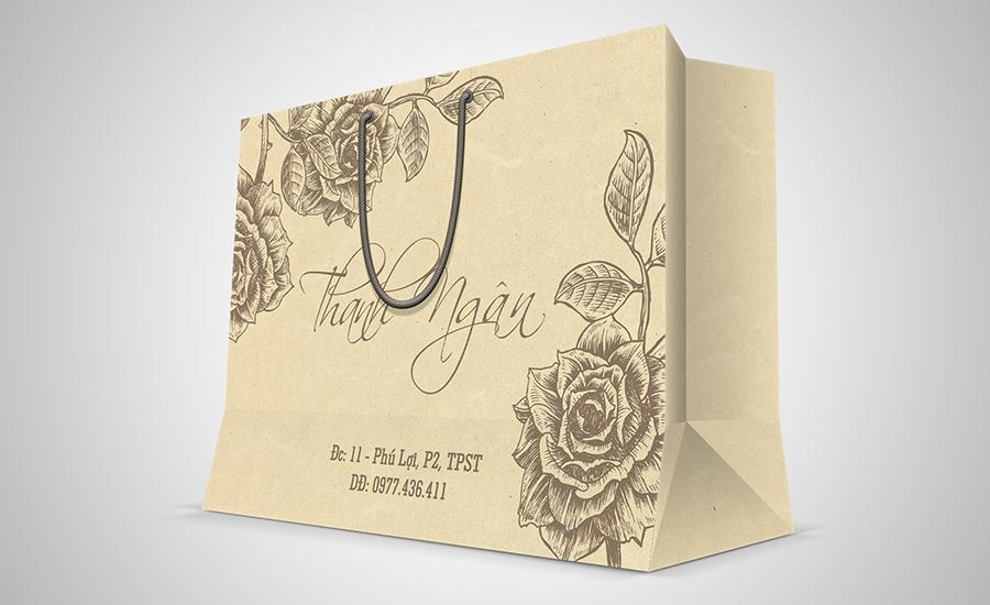 In túi giấy giá rẻ tại Hà Nội, túi giấy kraft cao cấp mẫu mã đẹp Thanh Ngan