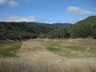 Western arm of the Lexington Reservoir, completely dry.