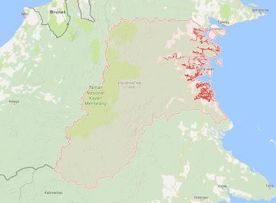 Peta Wilayah Provinsi Kalimantan Utara