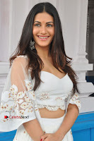 Telugu Actress Amyra Dastur Stills in White Skirt and Blouse at Anandi Indira Production LLP Production no 1 Opening  0064.JPG