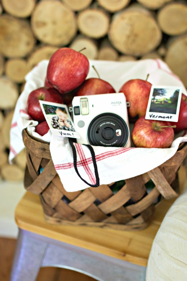 Apple picking fun using Fuji Film Instax