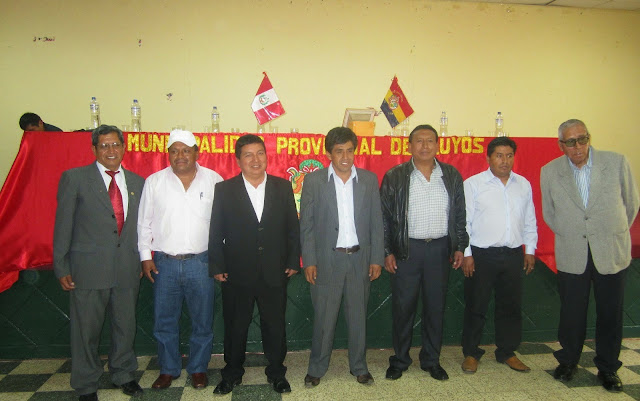 Resultado de imagen para alcalde y regidores de yauyos