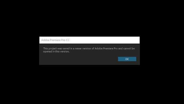 Cara Membuka Project Adobe Premiere yang Lebih Baru di CC Lama