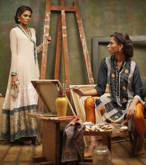 Nida Azwer Eid Collection 2014- 2015