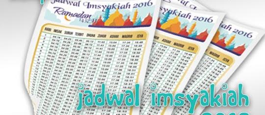 template Jadwal imsyakiyah ramadhan 1437h 2016 coreldraw editable