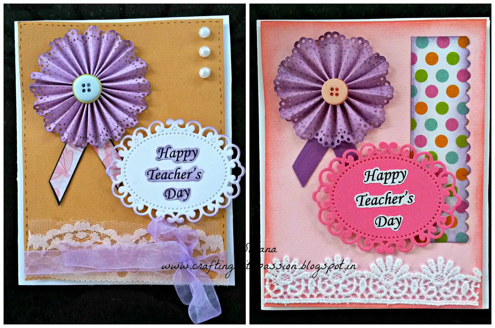 crafting with passion teachers' day cards