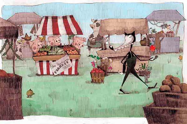 Ilustración, El lobo llegó... de Maria Motta aka Mottaq
