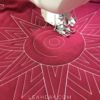 wholecloth quilting with Leah Day