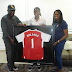 Football star Asisat Oshoala visits First Lady of Lagos state Mrs Bolanle Ambode