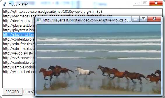 python과 ffmpeg를 이용한 m3u8 재생,녹화 하기   vrspace