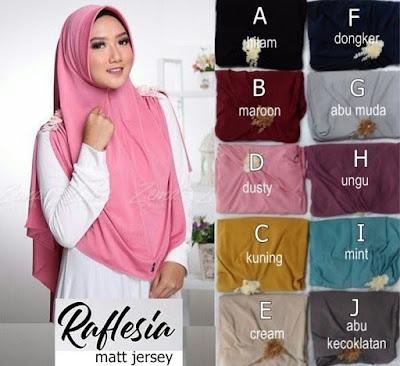 Grosir Jilbab Kerudung Hijab Raflesia