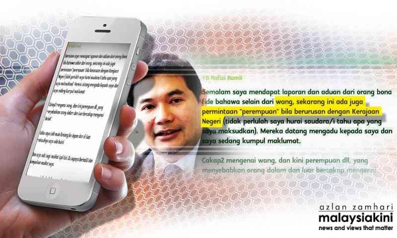 Rafizi-skandal-rasuah-wanita-PKR-Selangor