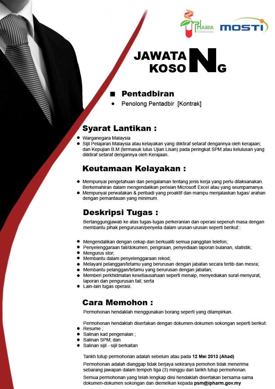 Jobs Malaysia 2020 | 2021: Jawatan Kosong Institut ...