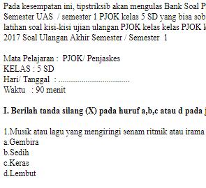 Soal-UKK-UAS-PJOK-Penjaskes-kelas-5-SD-semester-1