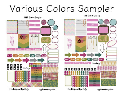 Free Printable Various Colors Sampler for the Vertical Erin Condren Life Planner and The Happy Planner on myplannerenvy.com