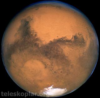 mars gezegeni ve teleskop gözlemi