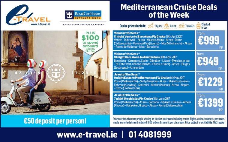 E Travel Ie Mediterranean Cruise Deals Plus Onboard Spend