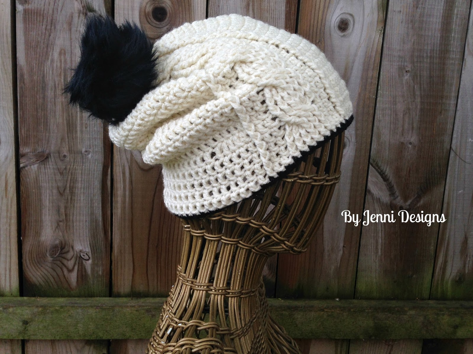 Originally I only created the beanie version but I thought it would work  great as a slouchy hat too (this is now my fav. slouchy hat!) so I have  both ... d0e3227a88