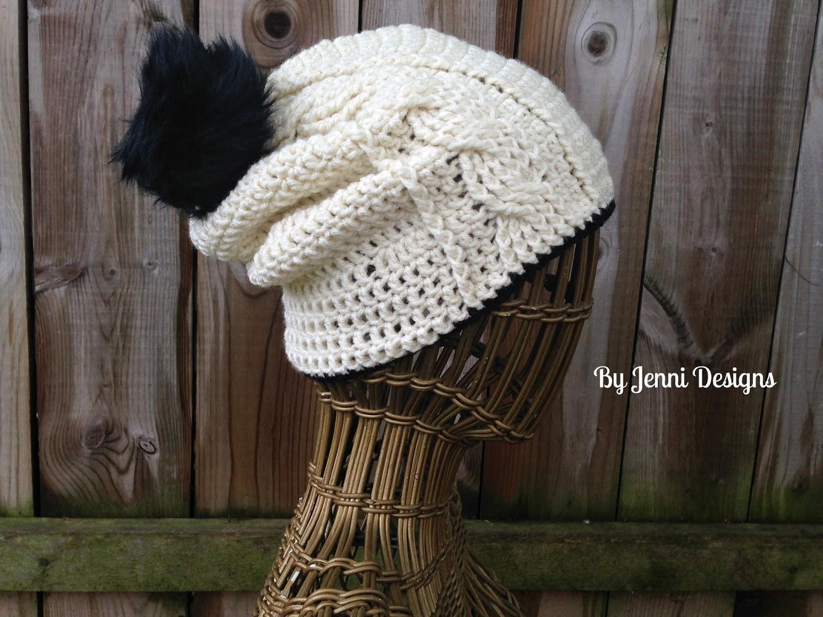By Jenni Designs: Free Crochet Pattern: Women\'s Vertical Cable ...