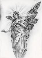 ангел с крыльями эскиз