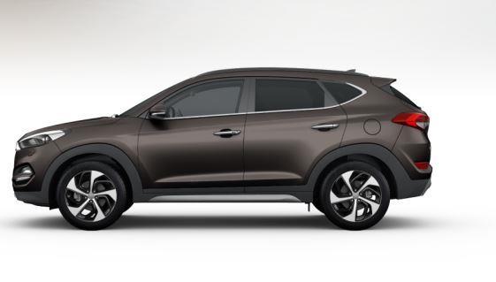 colori Nuova Hyundai Tucson 2016 Marrone/Brown - Moon Rock profilo laterale di lato