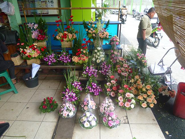 Tienda de flores en Yakarta