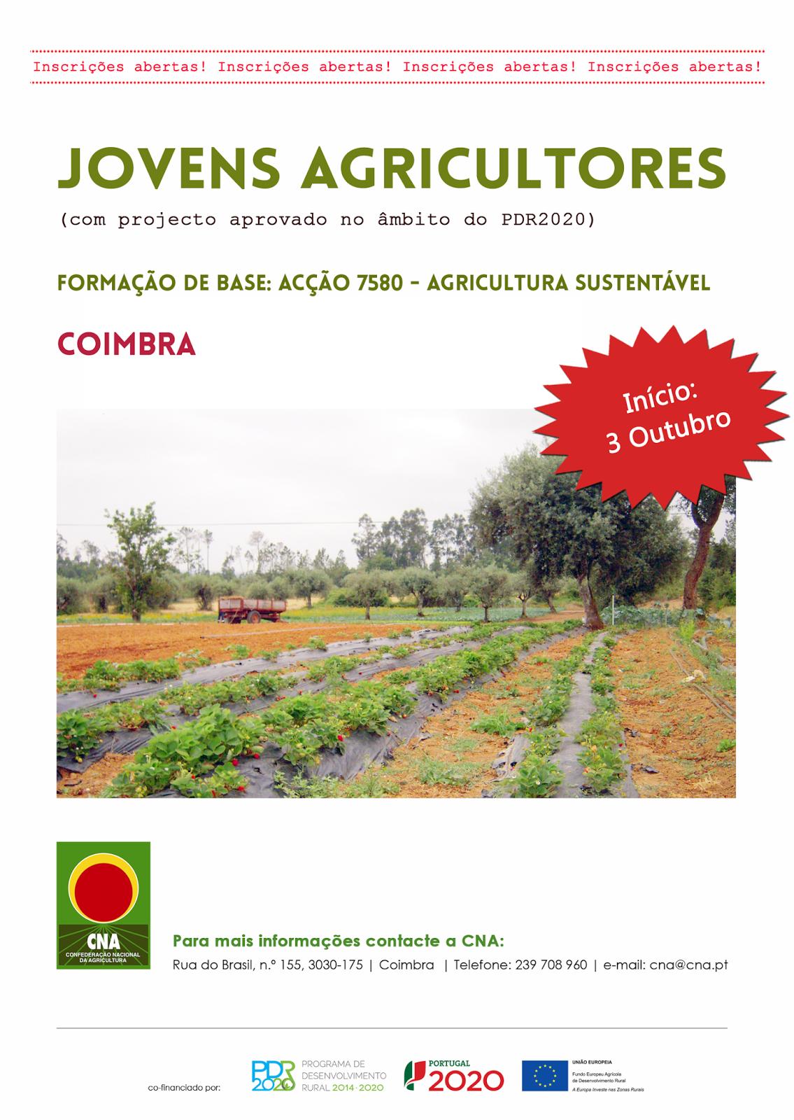 formação jovens agricultores Coimbra
