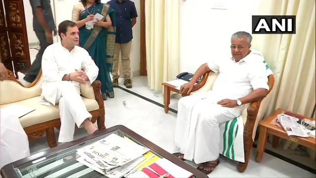 राहुल गांधी ने केरल के CM विजयन से की मुलाकात - newsonfloor.com