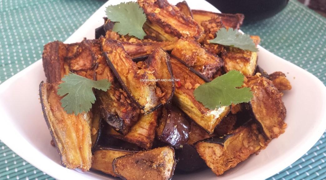 Air Fryer Eggplant Baingan