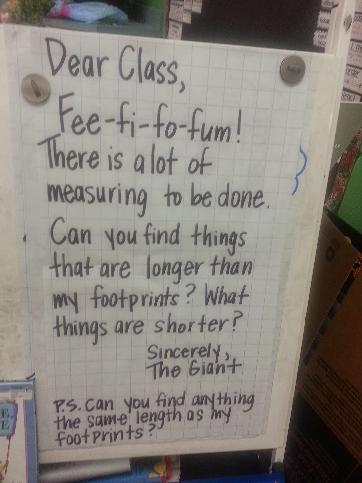 The Go To Teacher Measuring A Giant S Footprint
