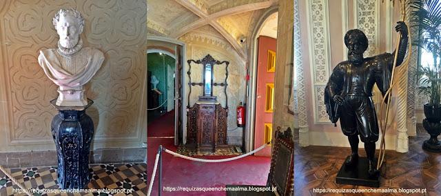 Interior do Palácio da Pena, sala de passagem