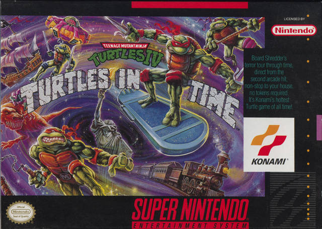 Teenage Mutant Ninja Turtles: Turtles in Time - Portada