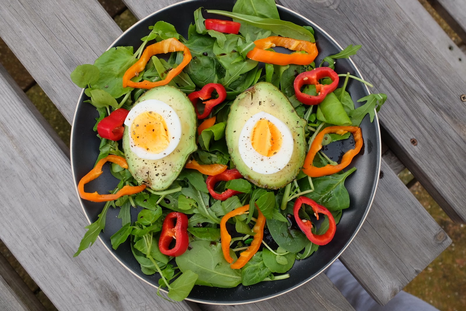 egg avocado and salad recipe raw rhubarb fit food and recipes