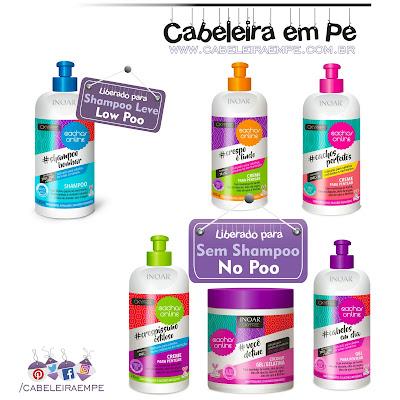 Na Beauty Fair 2016 foi lançada a Linha OxyFree Cachos Online - Inoar shampoo sem sulfato liberado para Low Poo e creme para pentear, gel e gelatina liberados para No Poo (Creme para pentear para cabelo cacheado e crespo)