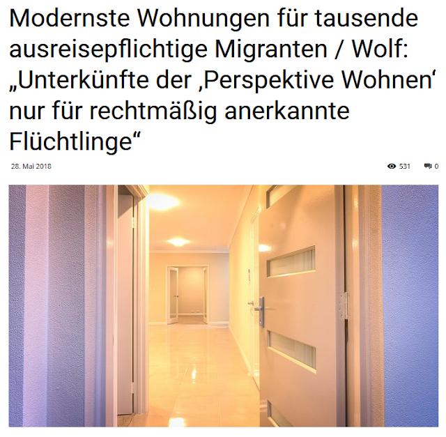 Modernste Wohnungen für Ausreisepflichtige