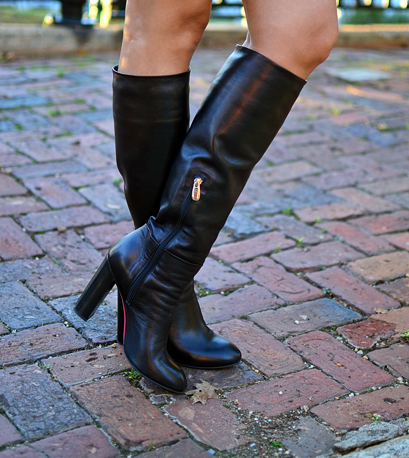 Knee high boots street style