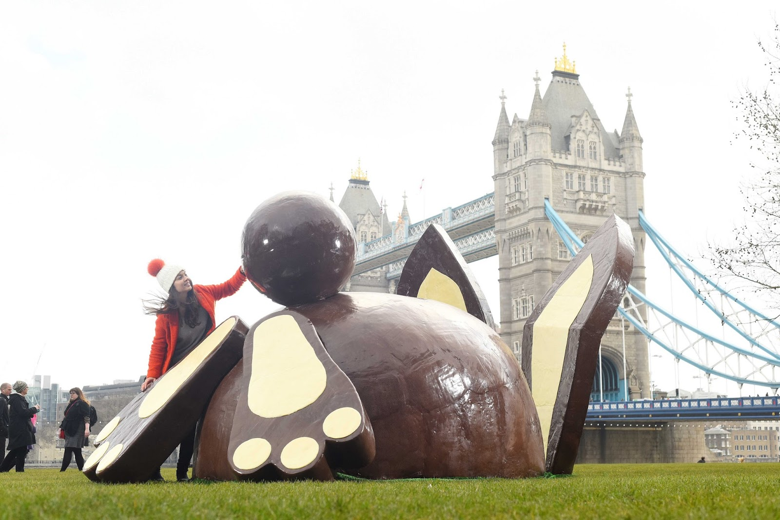 Dr. Oetker's Giant Chocolate Bunny Bum Tours The UK