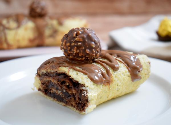 Brazo de Gitano de Ferrero Rocher. Vídeo Receta