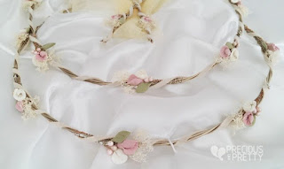 stefana crowns with lilies for weddings