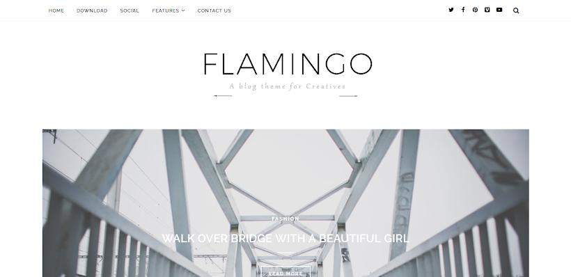 Flamingo Free Blogger Template