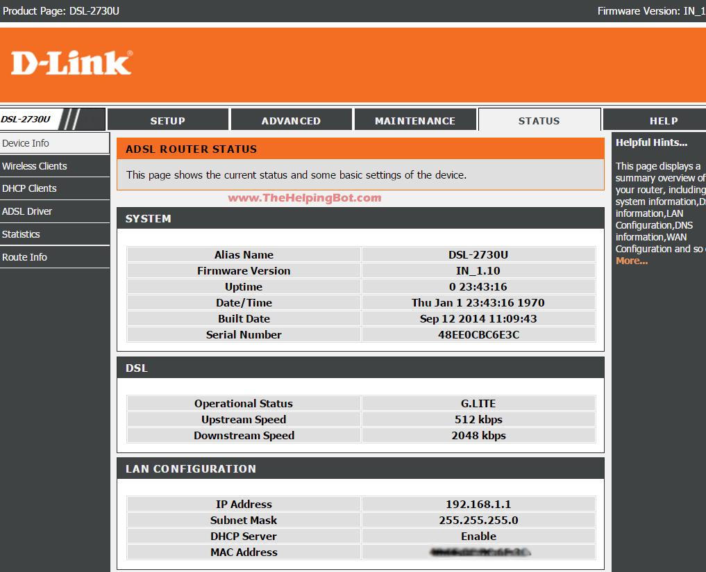 configuring d link modem for bsnl