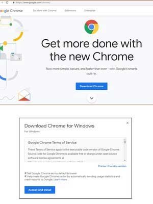 Download and install Chrome Browser