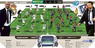 بث مباشر مباراة ريال مدريد واتلتيكو مدريد اليوم السبت 27-2-2016