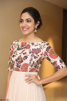 Ritu Varma smiling face Cream Anarkali dress at launch of OPPO New Selfie Camera F3 ~  Exclusive 103.JPG