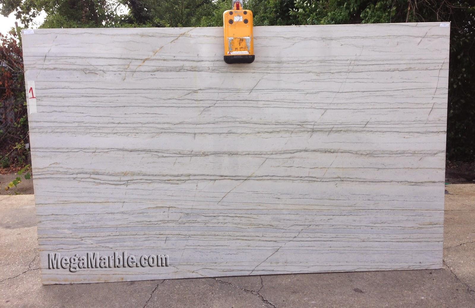 White Macaubas Polished Quartzite Slab