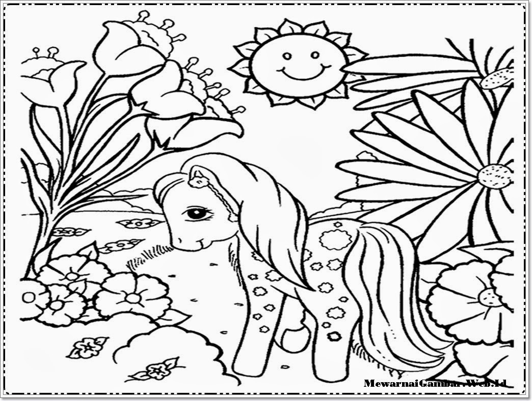 Gambar Kartun My Little Pony Sketch Coloring Page