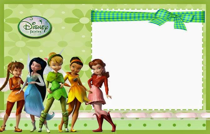 Para hacer invitaciones, tarjetas, marcos de fotos o etiquetas, para imprimir gratis de Tinkerbell.