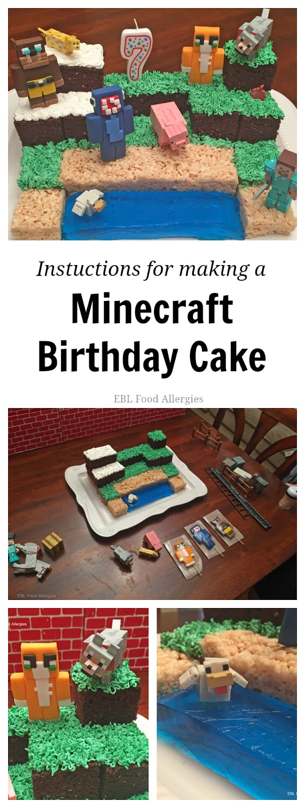 Remarkable Minecraft Birthday Cake Ebl Food Allergies Funny Birthday Cards Online Fluifree Goldxyz