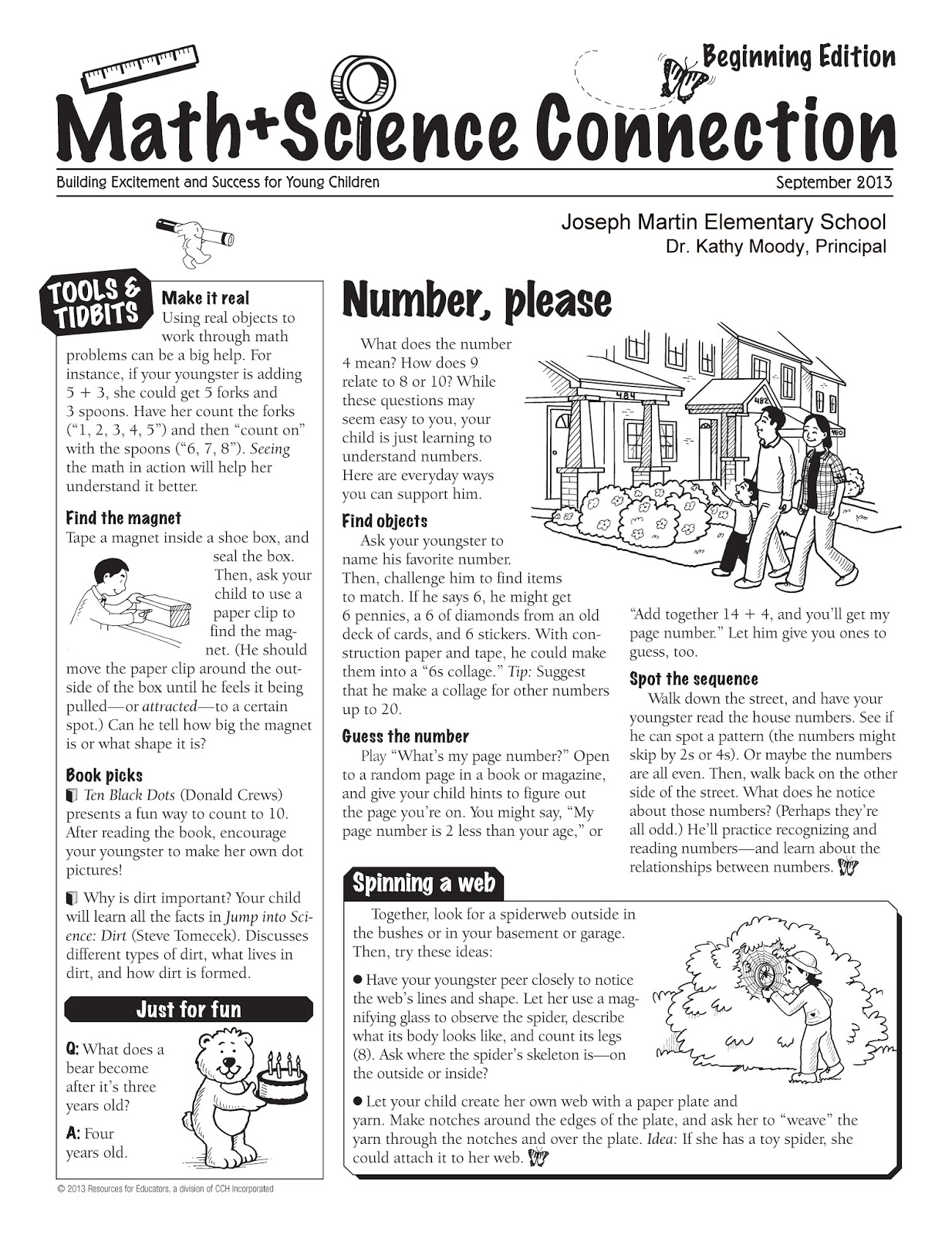Joseph Martin Elementary School: September Math & Science
