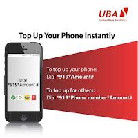 UBA Bank Airtime Recharge code
